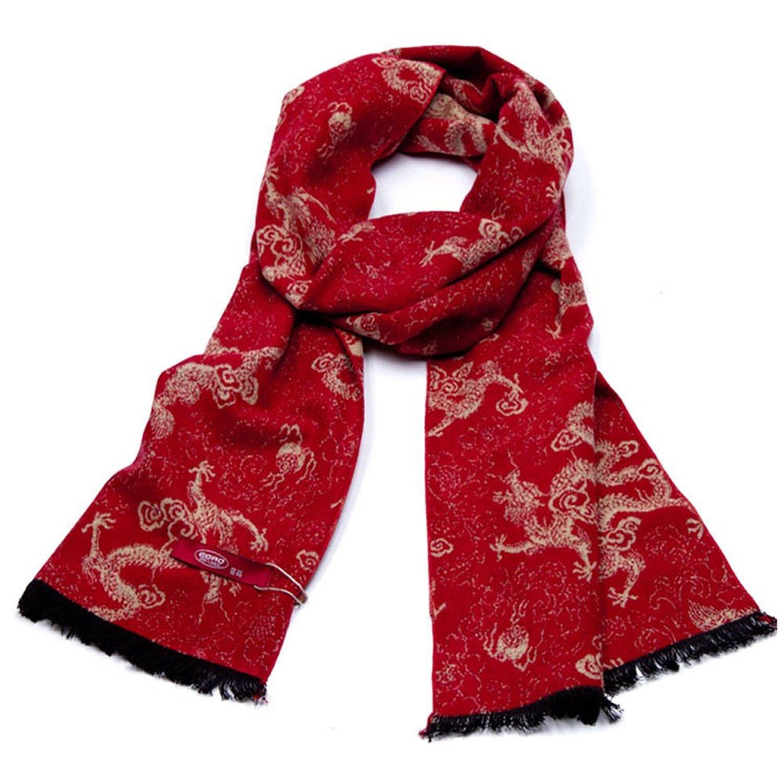 提花围巾,是通过梭织提花机器通过经纬的交织而形成各种花型的