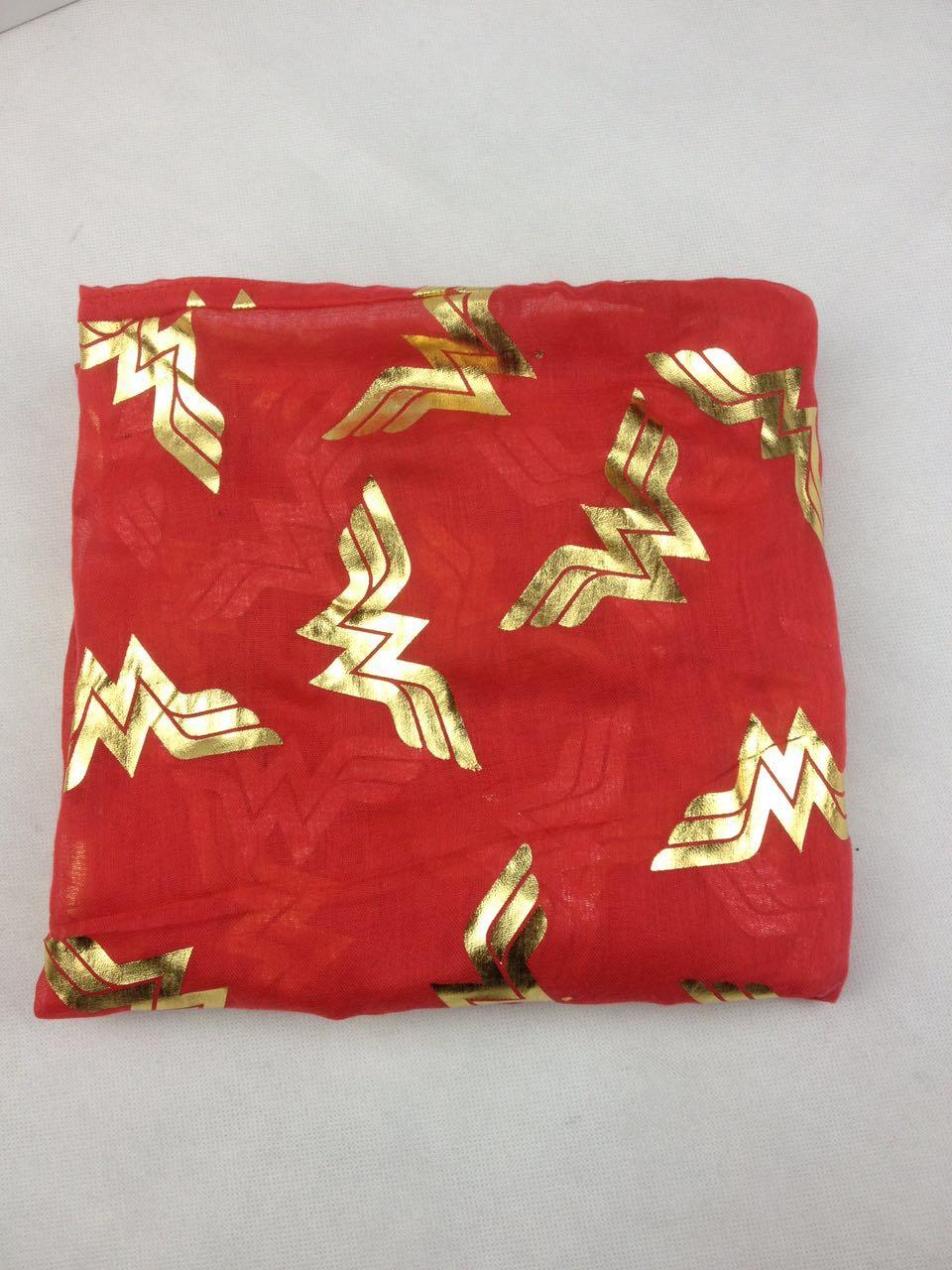 红色烫金围巾