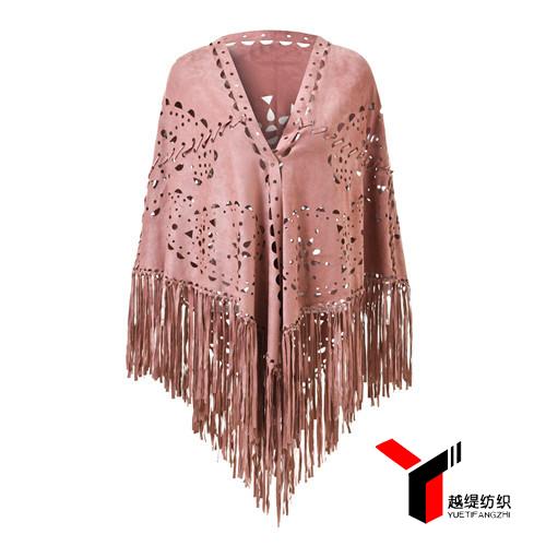 腰果款新款麂皮绒披肩粉色系列