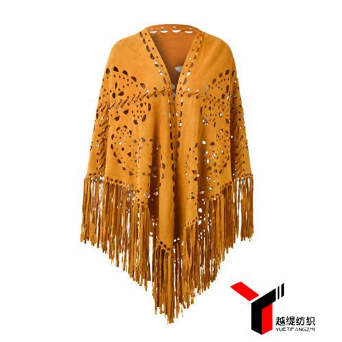 腰果款新款麂皮绒披肩黄色系列
