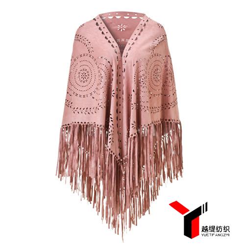 麦穗款新款麂皮绒披肩粉色系列