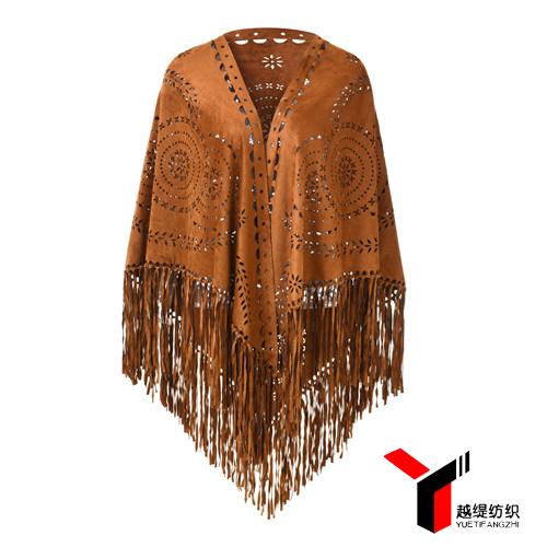 麦穗款新款麂皮绒披肩棕色系列