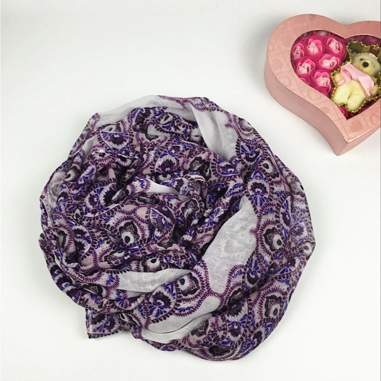 齿轮状巴厘纱围巾
