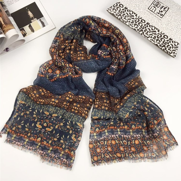 小野花系列巴厘纱围巾