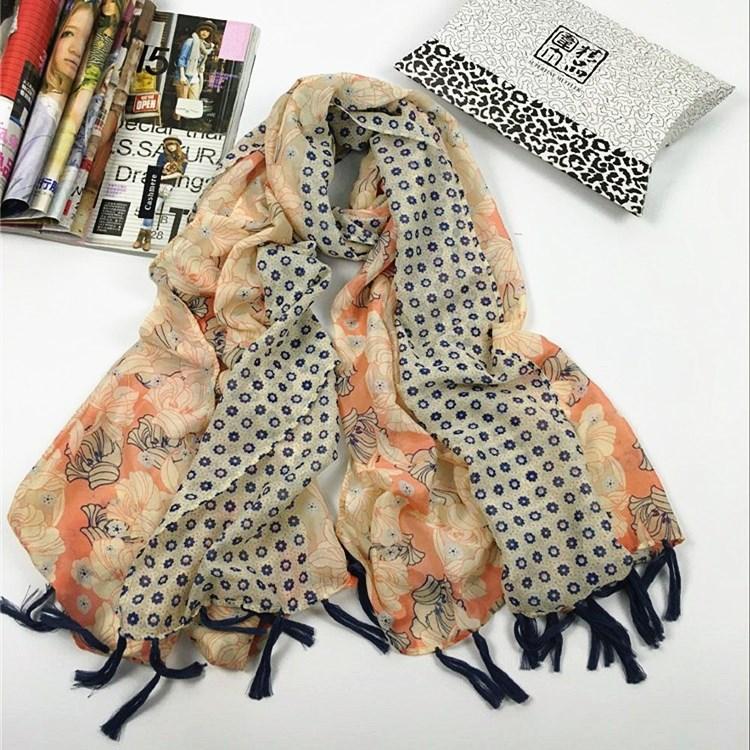 秋冬季新款韩国纱穿须巴厘纱丝巾