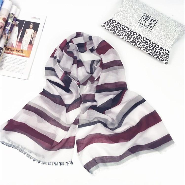 无规则条文系列巴厘纱围巾