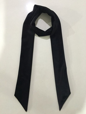 秋款拉绒长领巾黑色