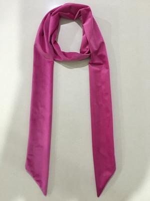 秋款拉绒长领巾粉红色