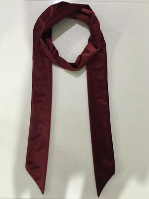 秋款拉绒长领巾酒红