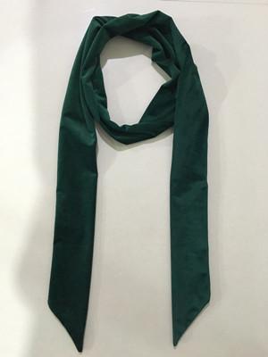 秋款拉绒长领巾墨绿