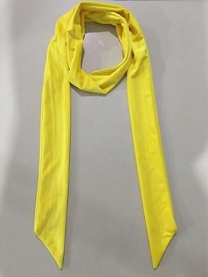 秋款拉绒长领巾黄色
