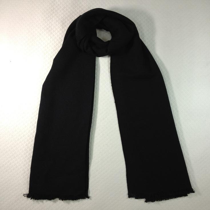 纯色拉绒围巾黑色