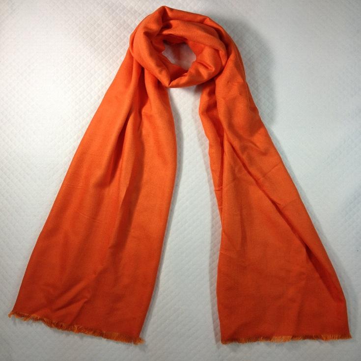 纯色拉绒围巾橙色