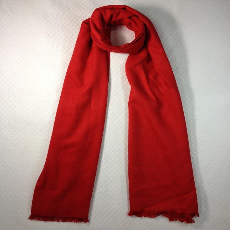 纯色拉绒围巾红色
