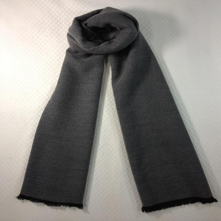 纯色拉绒围巾灰色