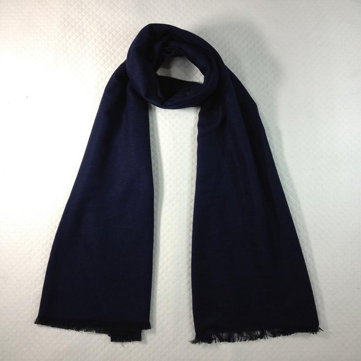 纯色拉绒围巾深蓝色