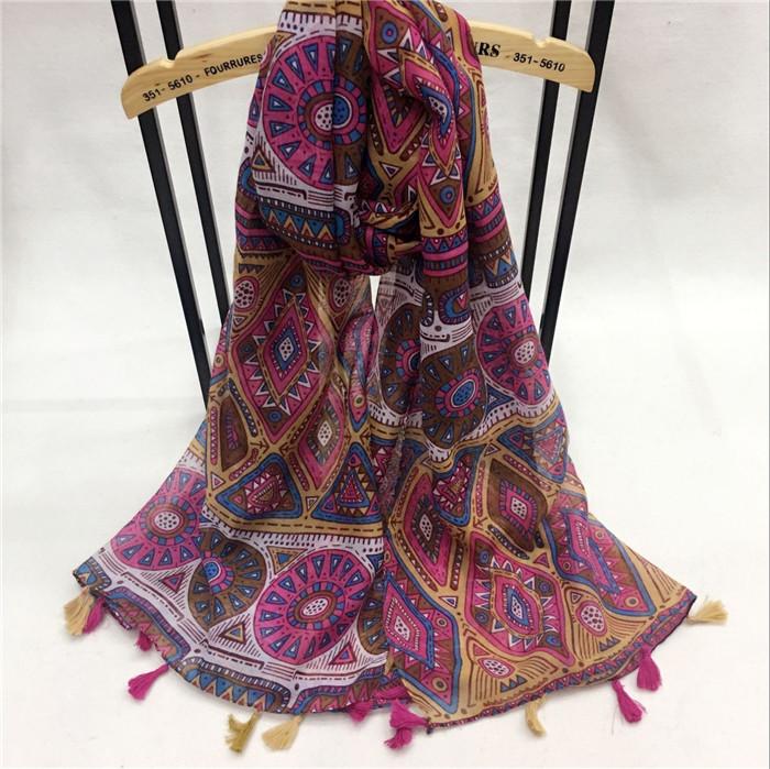 新款泰国民族风复古百搭巴厘纱围巾超薄遮阳防晒海边沙滩旅游