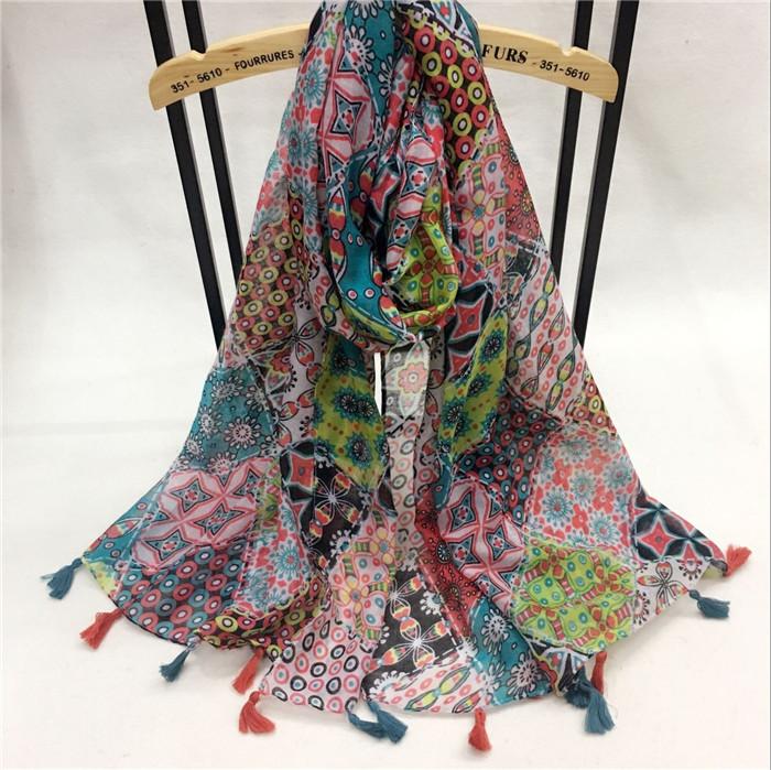 新款九宫格系列巴厘纱围巾