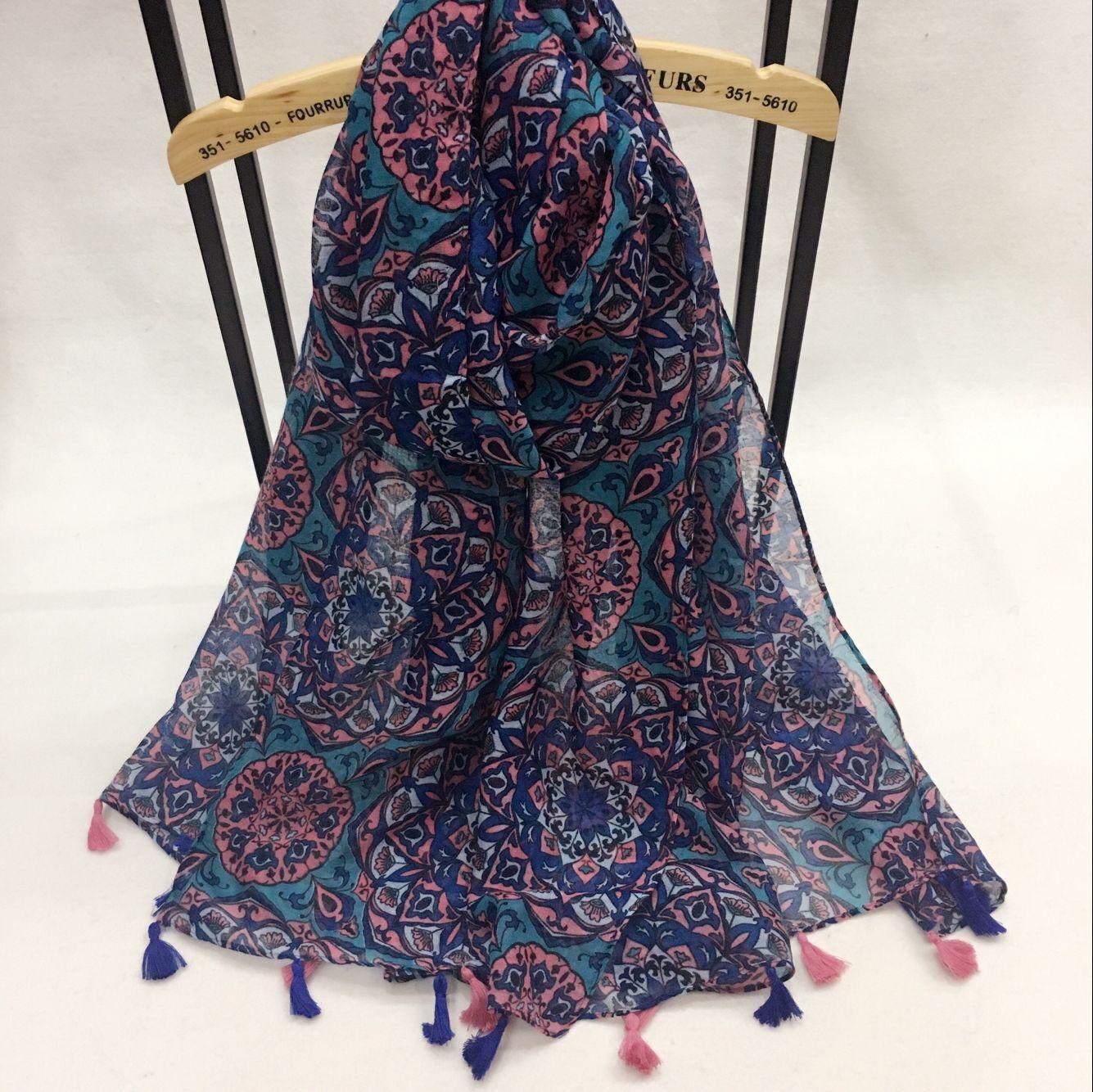 姹紫嫣红款 巴厘纱围巾