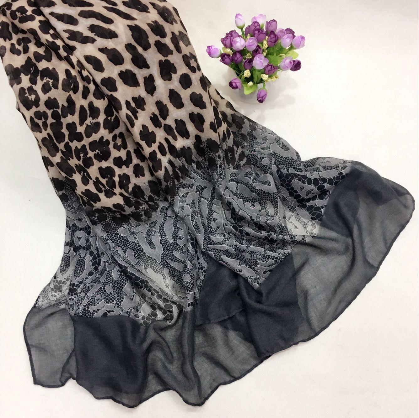 新款豹纹巴厘纱围巾①