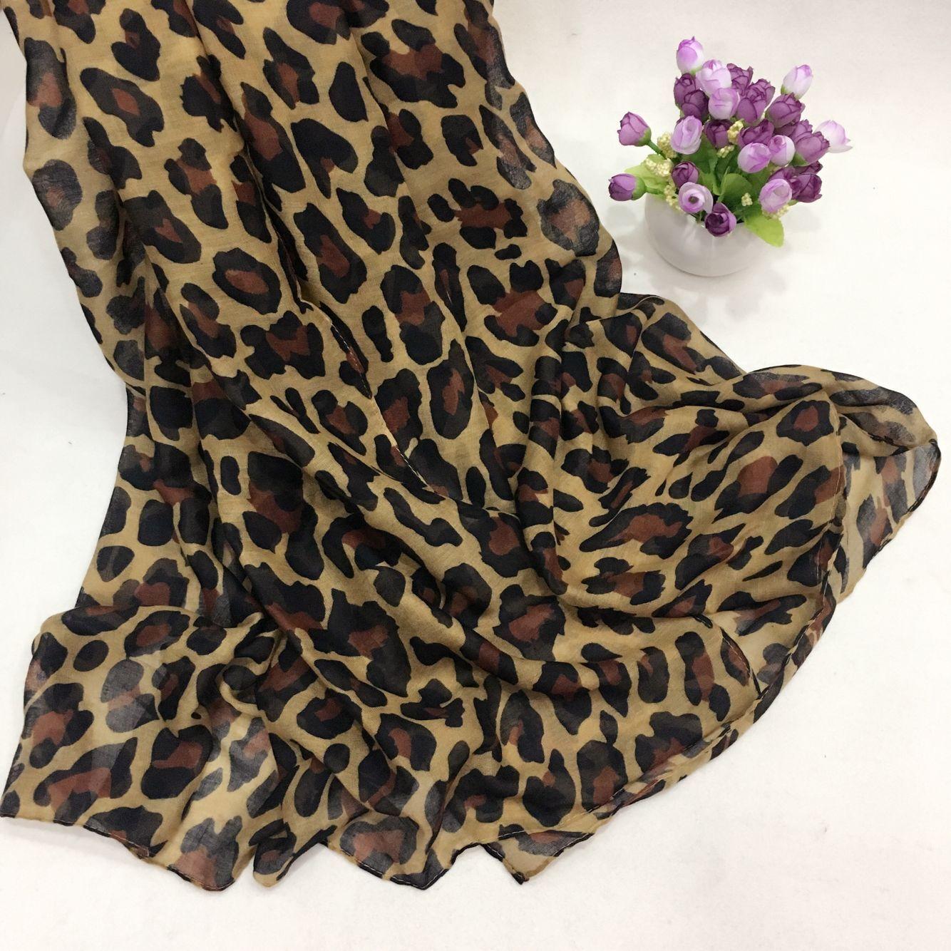 新款豹纹巴厘纱围巾②