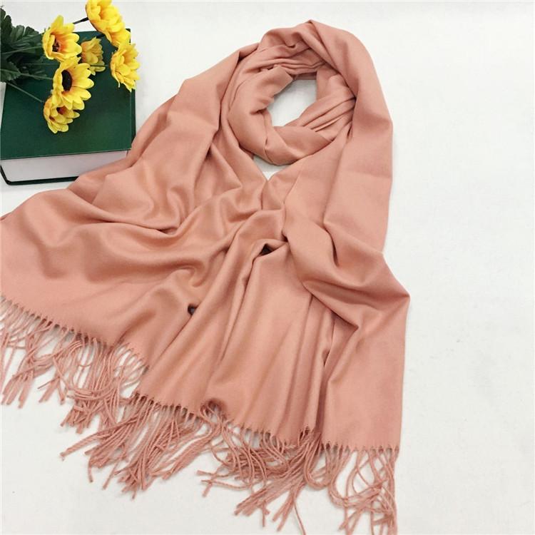 仿羊绒围巾厂家定制—裸粉YFYR-3