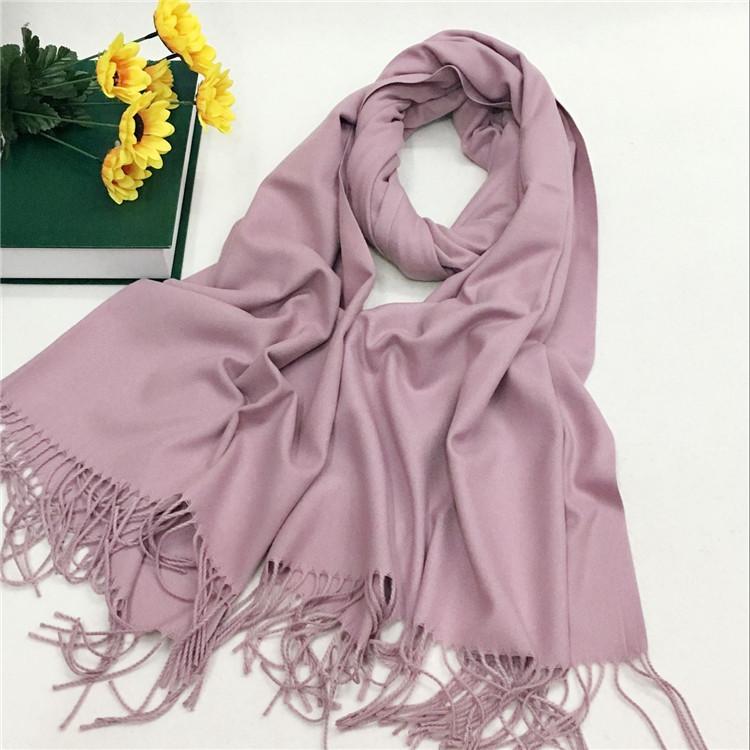仿羊绒围巾厂家定制—香芋紫YFYR-4