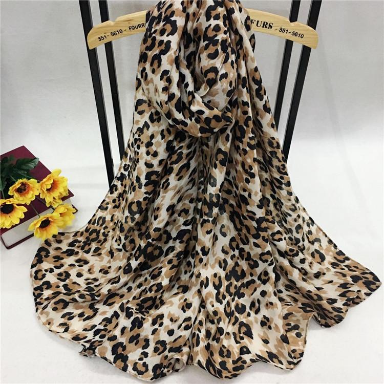 巴厘纱豹纹围巾YB88012