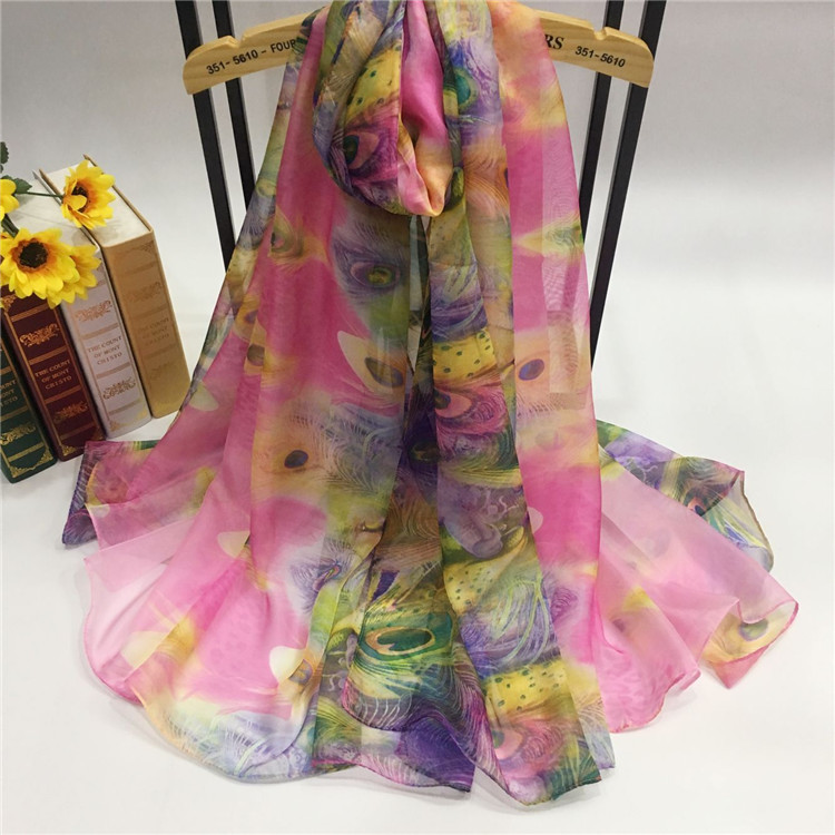 雪纺丝巾定制厂家YTF9003