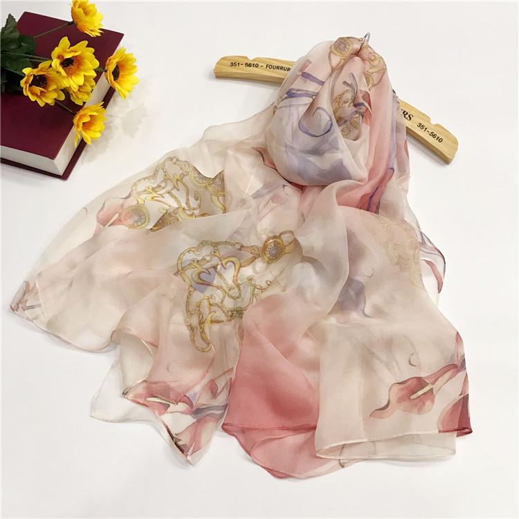 真丝雪纺丝巾定制-YTZXF9005