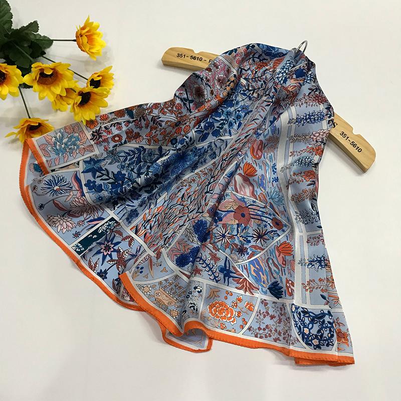 真丝围巾方巾长巾ZS-01